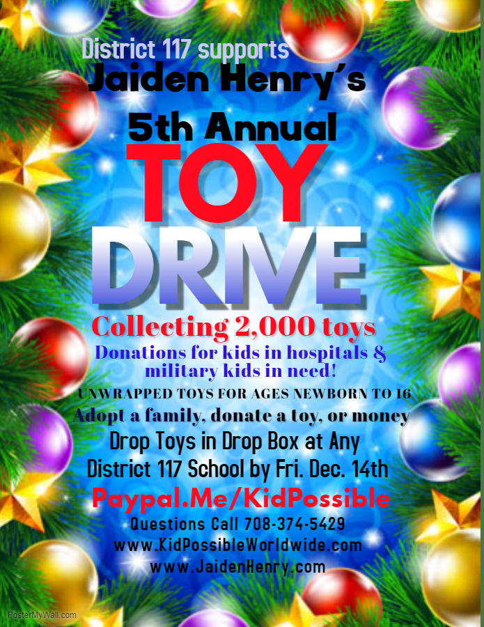 District 117 Toy Drive Flyer
